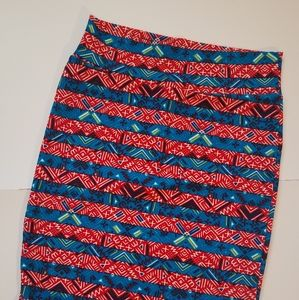 Lularoe Cassie in Red, White and Blue (M)